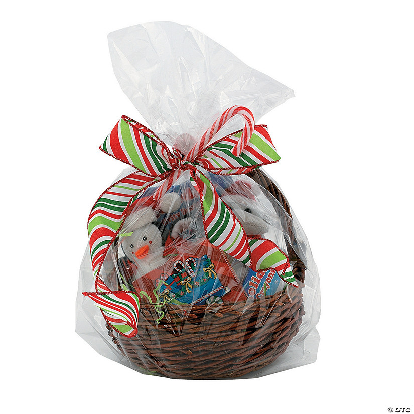 Large Clear Cellophane Gift Basket Bags Audio Thumbnail