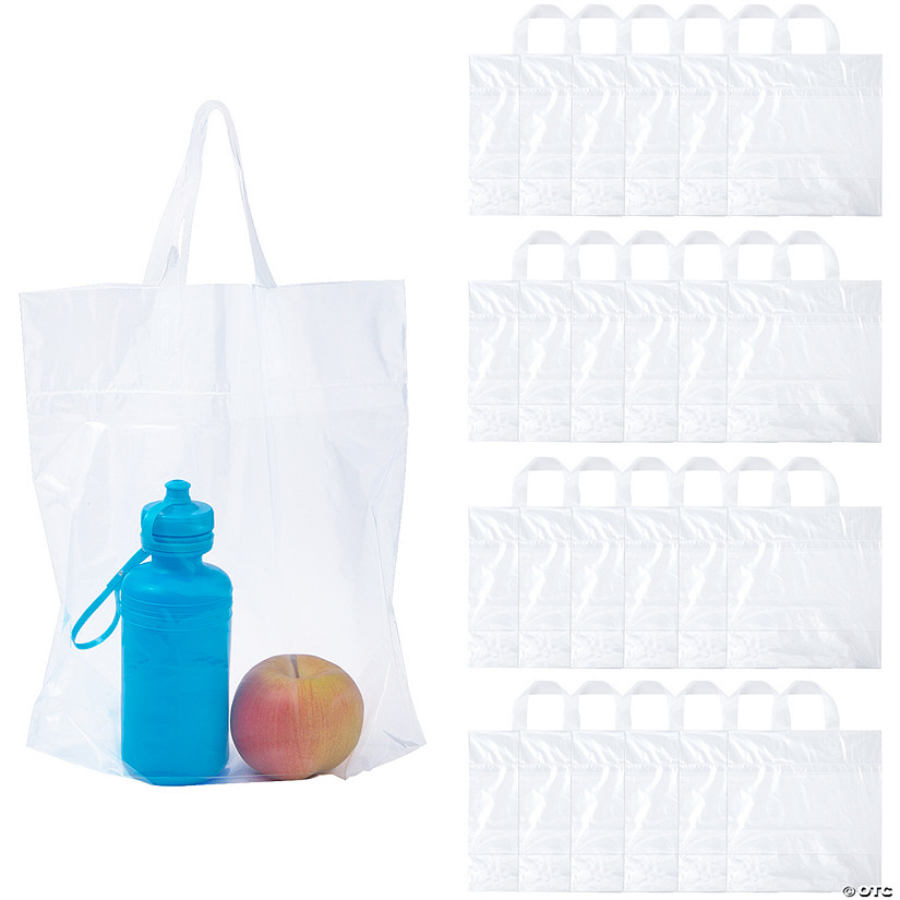 Large Clear Thin Plastic Tote Bags Audio Thumbnail