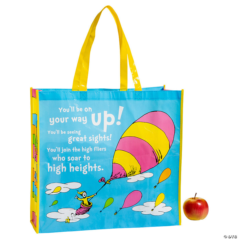 Large Dr. Seuss™ Oh, the Places You'll Go Tote Bags Audio Thumbnail