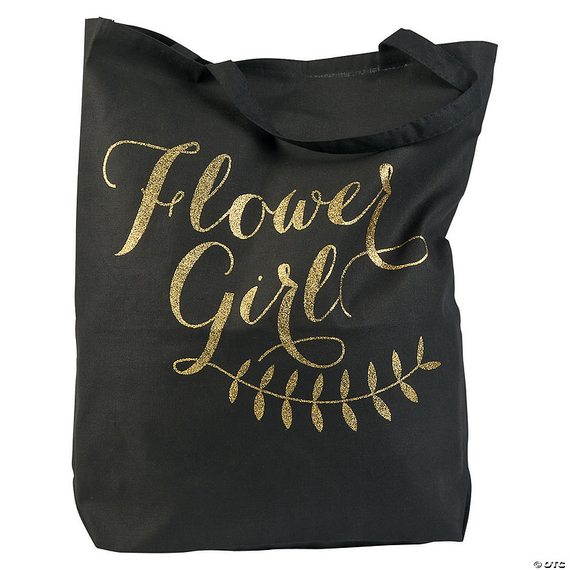 Large Flower Girl Tote Bag