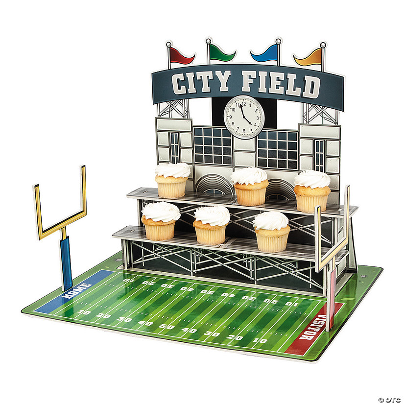 Large Football Stadium Cupcake Stand Image Thumbnail
