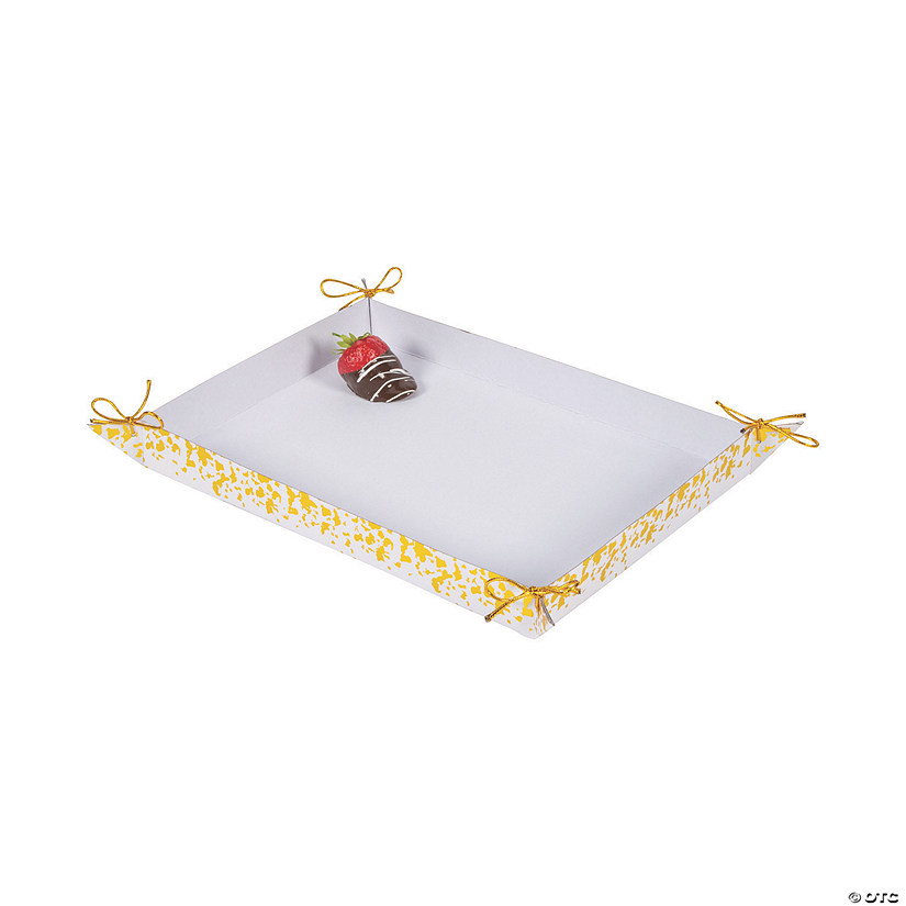 Large Gold Foil Trim Treat Trays