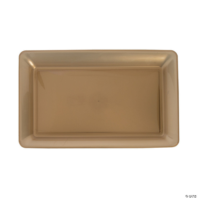 Large Gold Rectangular Plastic Serving Plate Audio Thumbnail