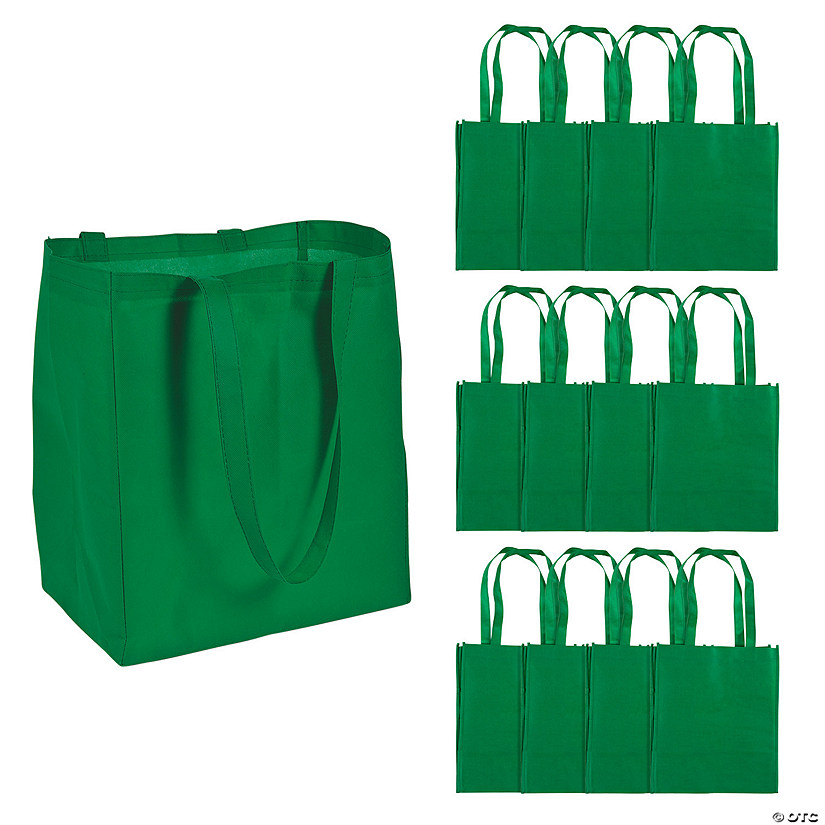 Large Green Shopper Tote Bags Audio Thumbnail