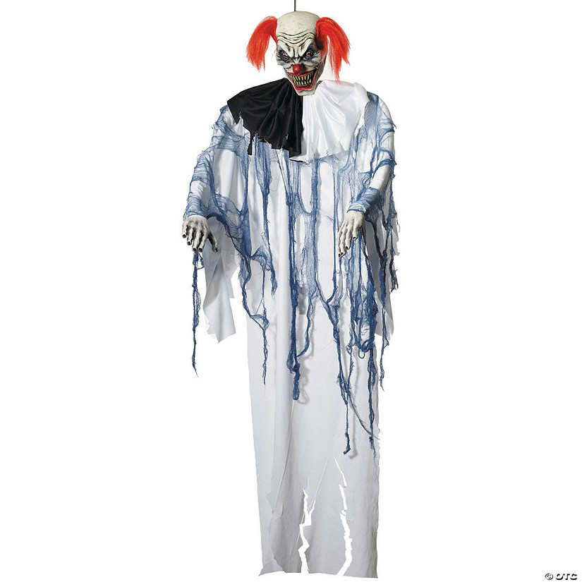 Large Hanging Clown Halloween Décor - 6 ft.