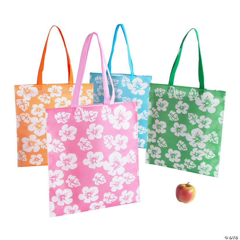 Large Hibiscus Tote Bags Audio Thumbnail