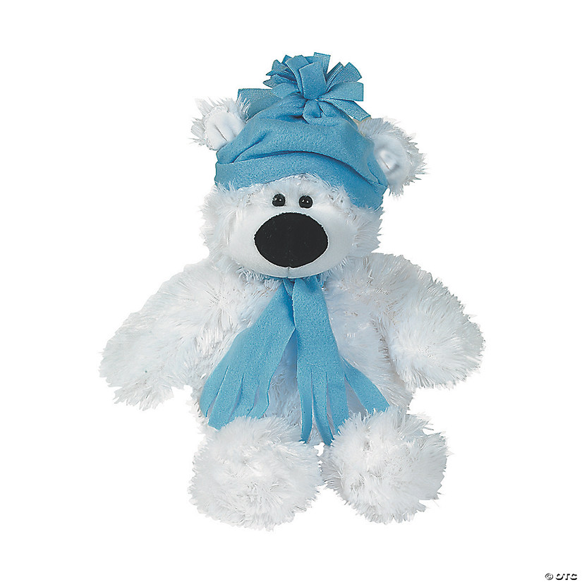 Large Holiday Stuffed Polar Bear Image Thumbnail