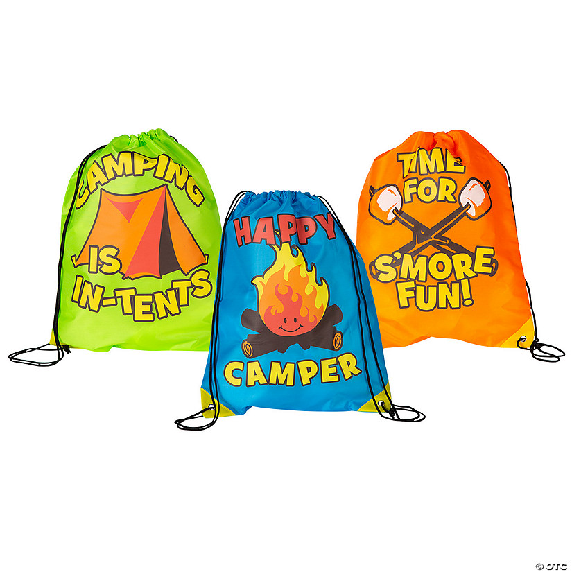 Large I Love Camp Drawstring Bags Audio Thumbnail
