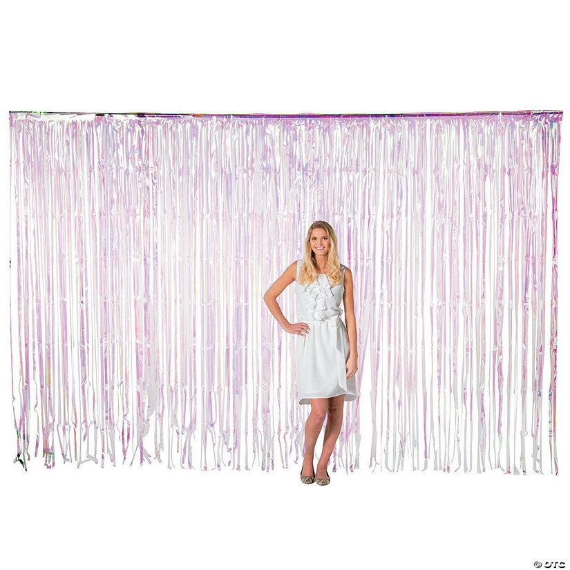 Large Iridescent Plastic Fringe Curtain Background Audio Thumbnail