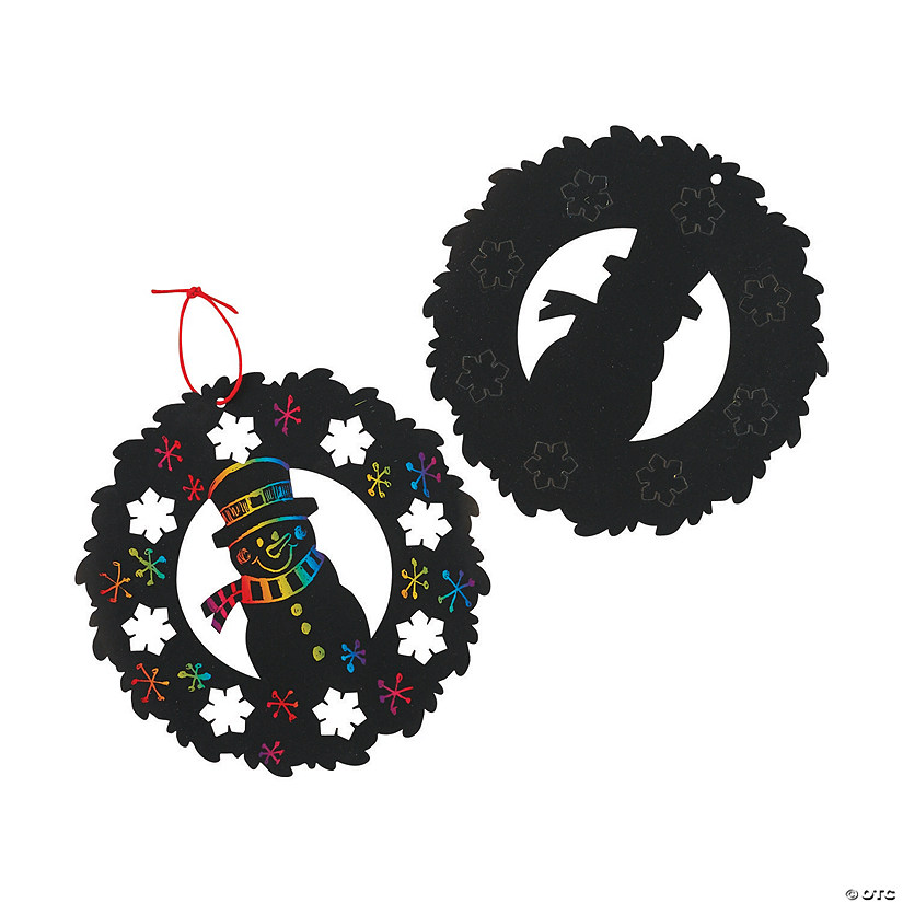 Large Magic Color Scratch Winter Wreaths