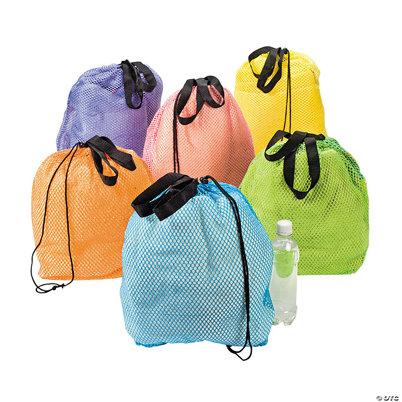 Large Mesh Beach Drawstring Bags Audio Thumbnail