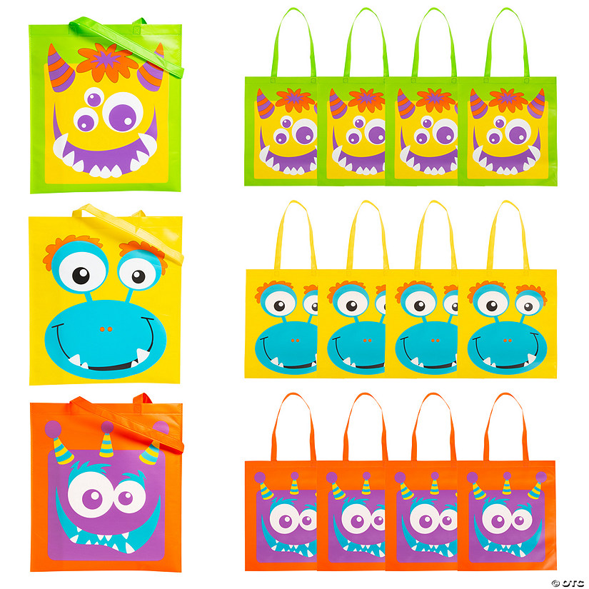 Large Monster Face Tote Bags Audio Thumbnail