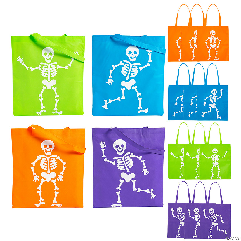 Large Neon Skeleton Tote Bags Audio Thumbnail