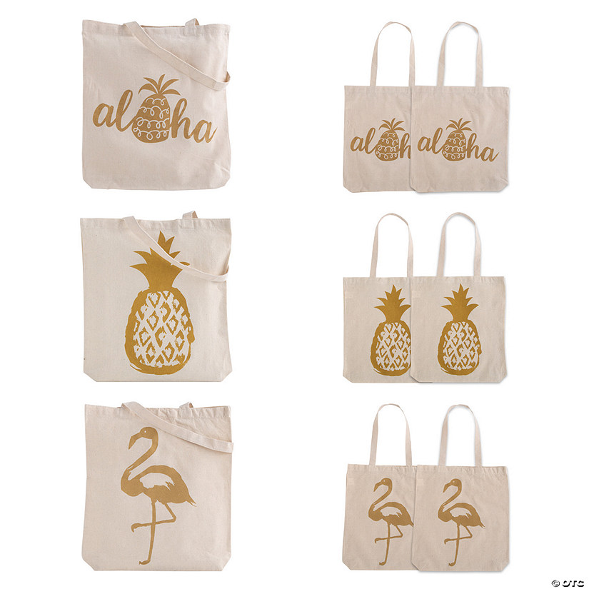 Large Pineapple Canvas Tote Bags Audio Thumbnail