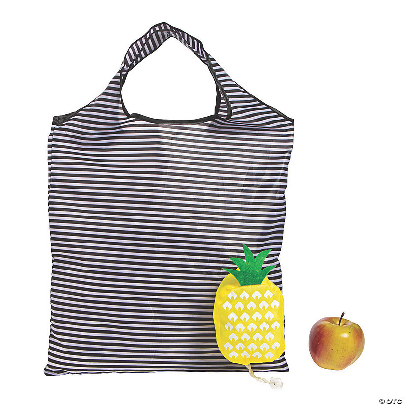 Large Pineapple Foldable Tote Bags Image Thumbnail