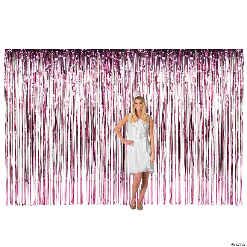 Large Pink Foil Fringe Curtain Background Audio Thumbnail