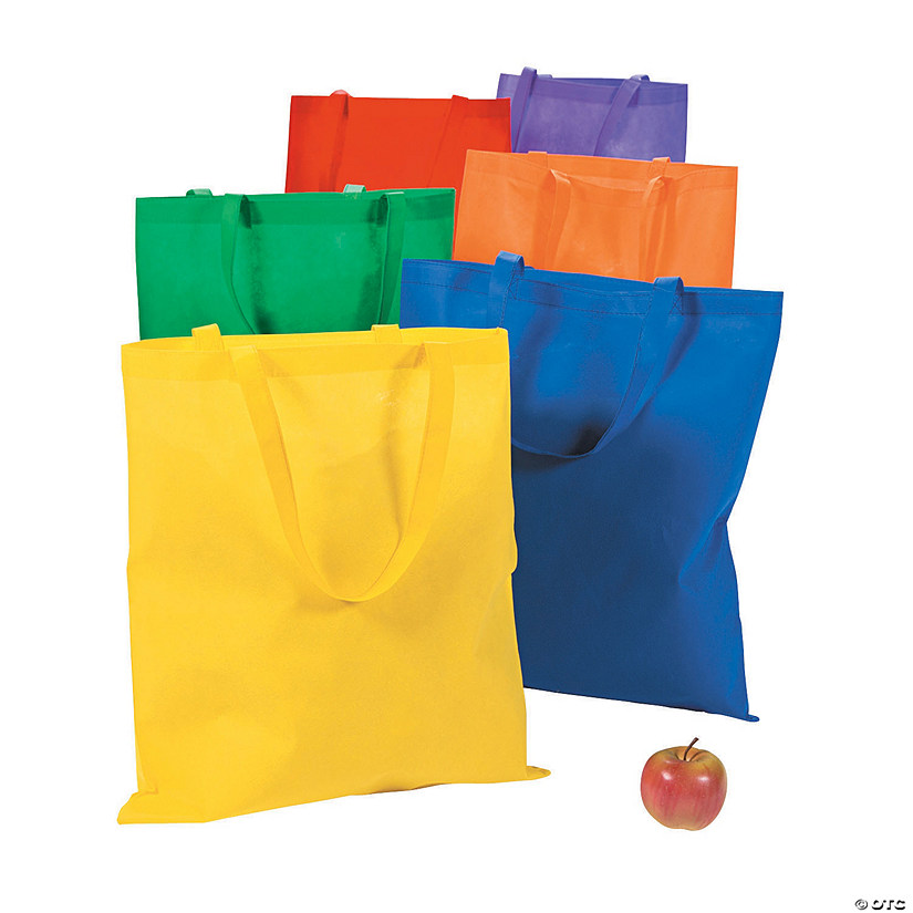 Large Primary Color Tote Bags Audio Thumbnail