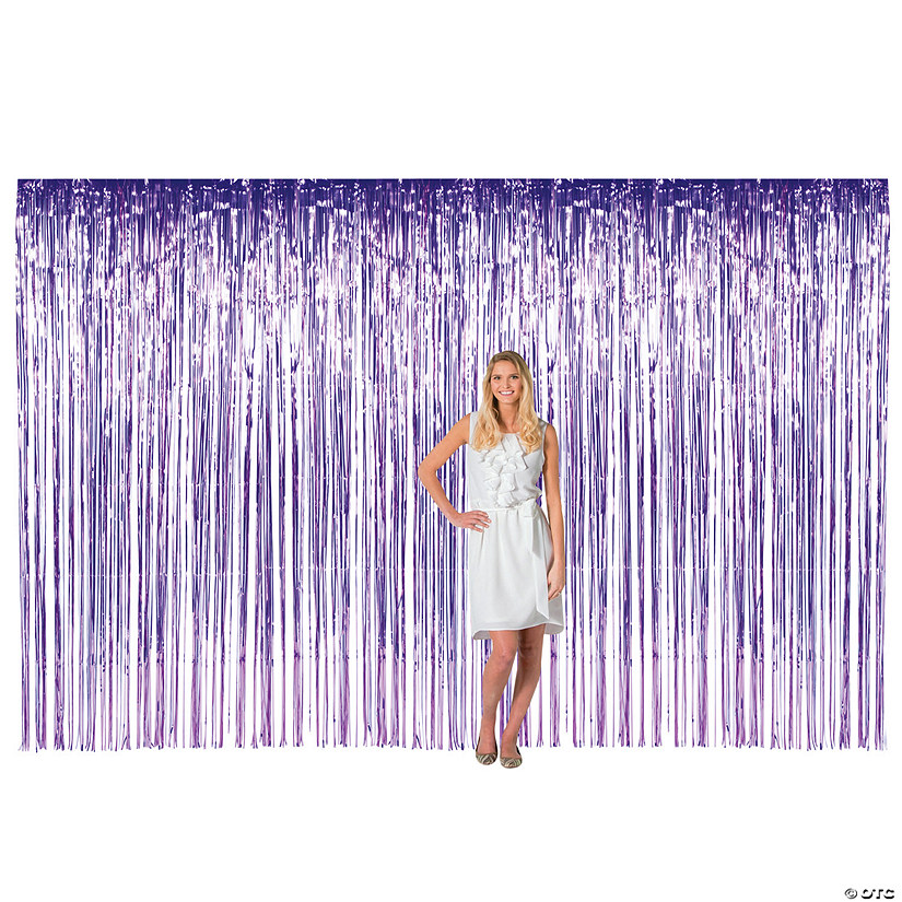 Large Purple Foil Fringe Curtain Background Audio Thumbnail