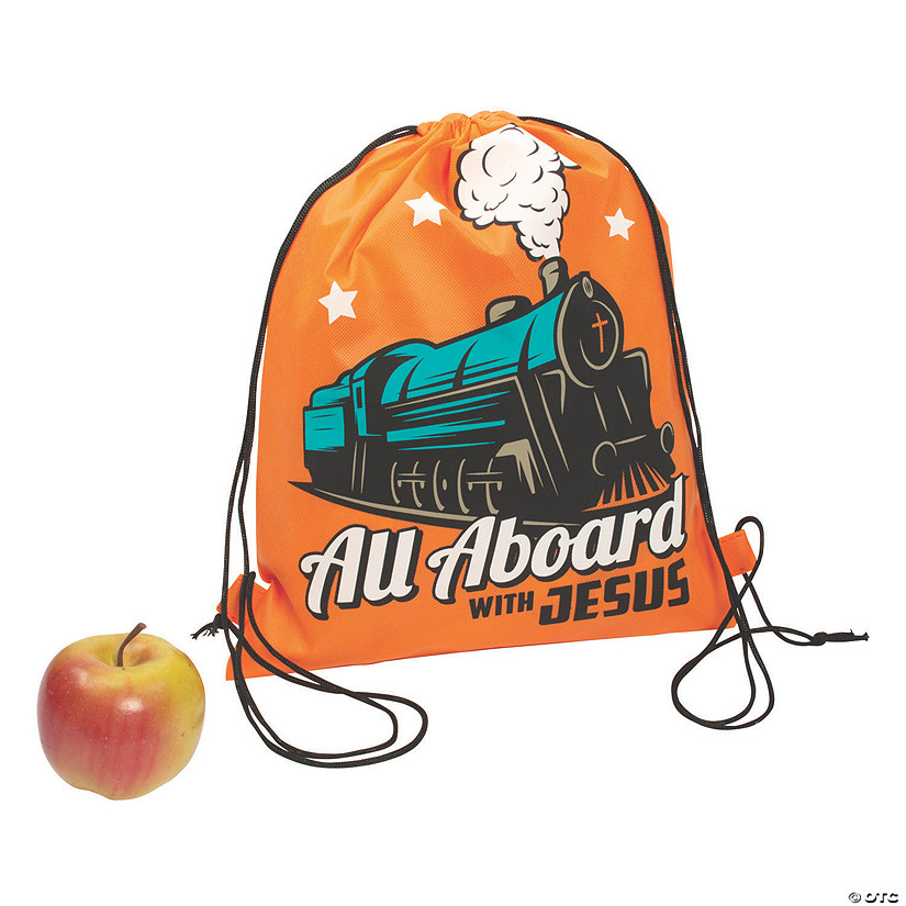 Large Railroad VBS Drawstring Bags Audio Thumbnail