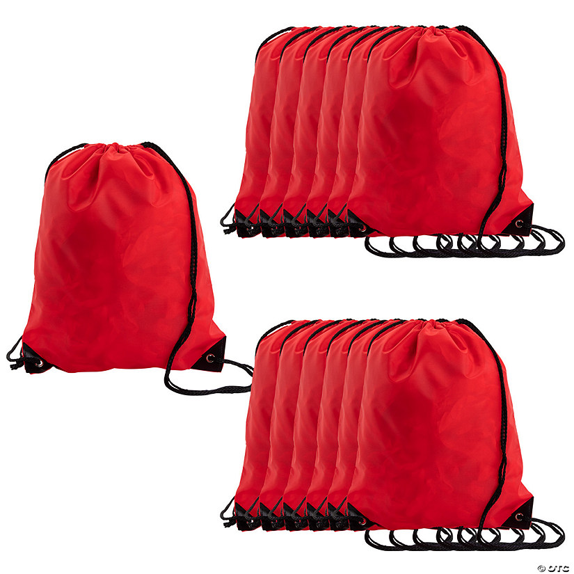 Large Red Drawstring Bags Image Thumbnail
