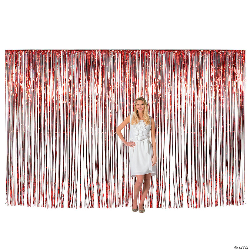 Large Red Metallic Fringe Backdrop Curtain Audio Thumbnail