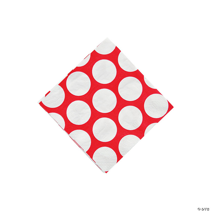 Large Red Polka Dot Beverage Napkins Audio Thumbnail