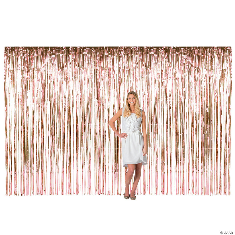 Large Rose Gold Foil Fringe Curtain Background Audio Thumbnail