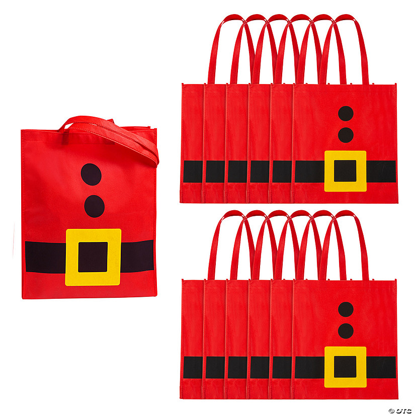 Large Santa Belt Tote Bags