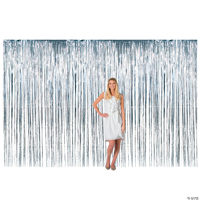 Large Silver Plastic Fringe Curtain Background Audio Thumbnail