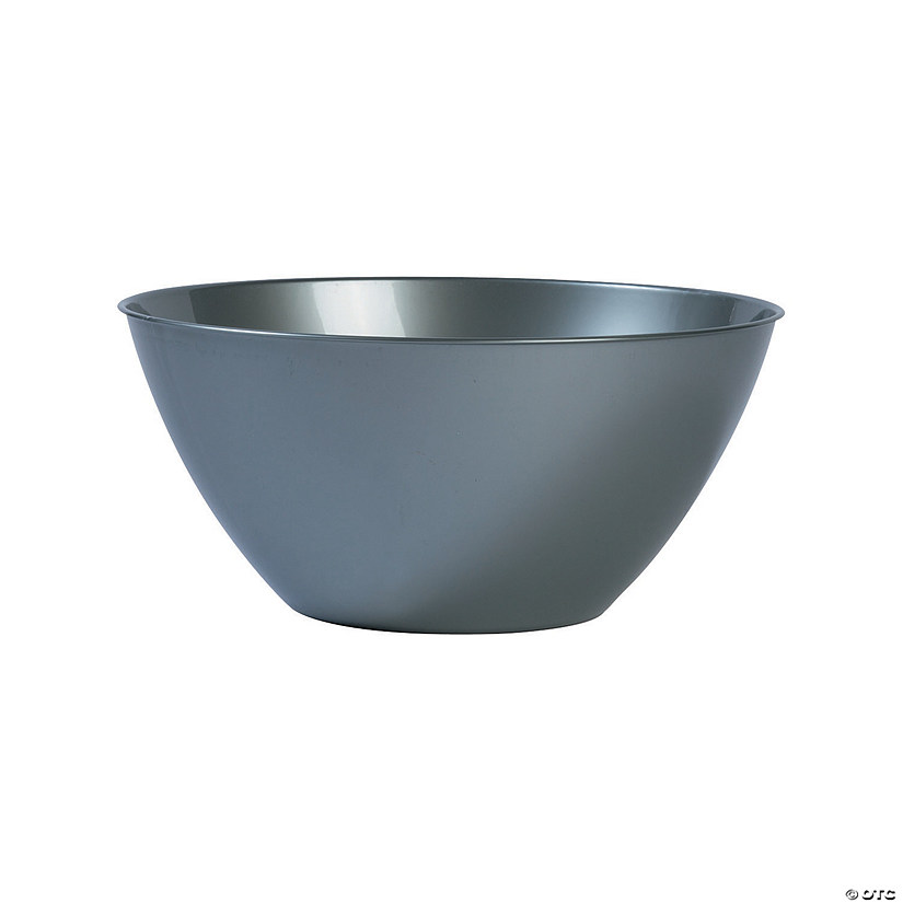 Large Silver Plastic Serving Bowl Audio Thumbnail