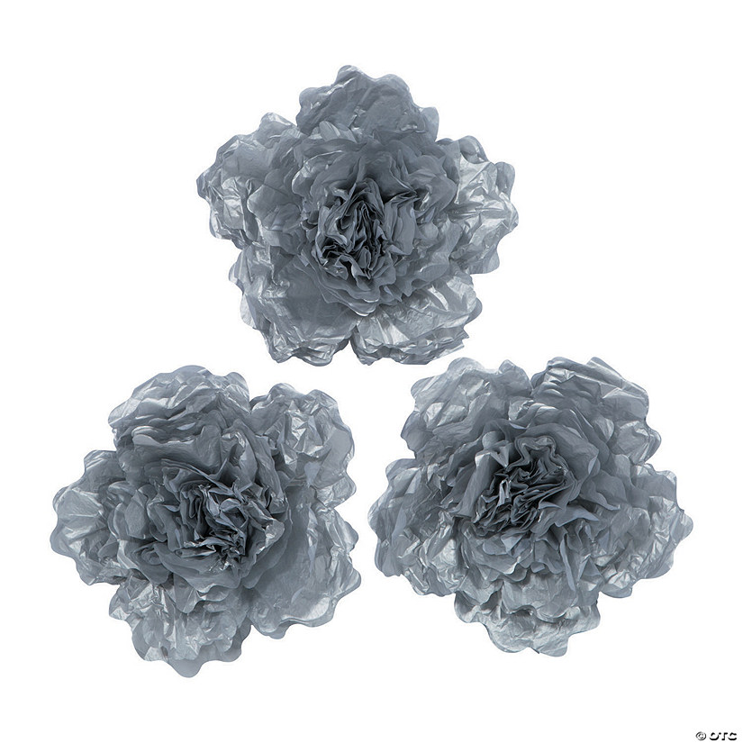 Large Silver Tissue Flower Decorations Audio Thumbnail