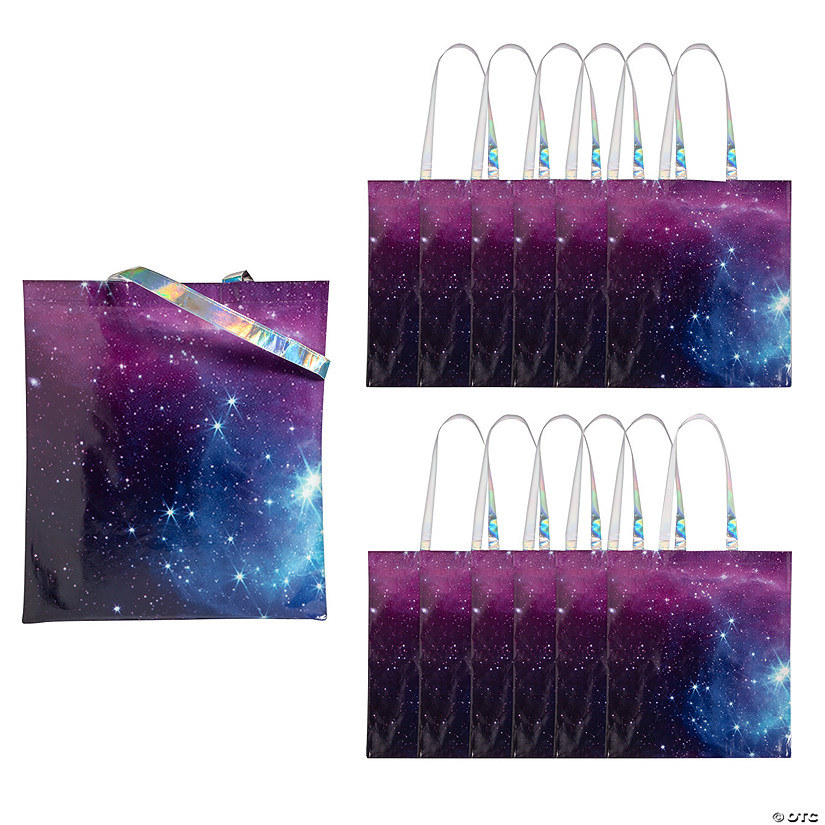 Large Space Tote Bags with Iridescent Handles Audio Thumbnail