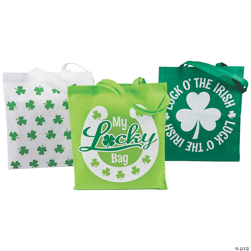 Large St. Patrick's Day Tote Bags Image Thumbnail