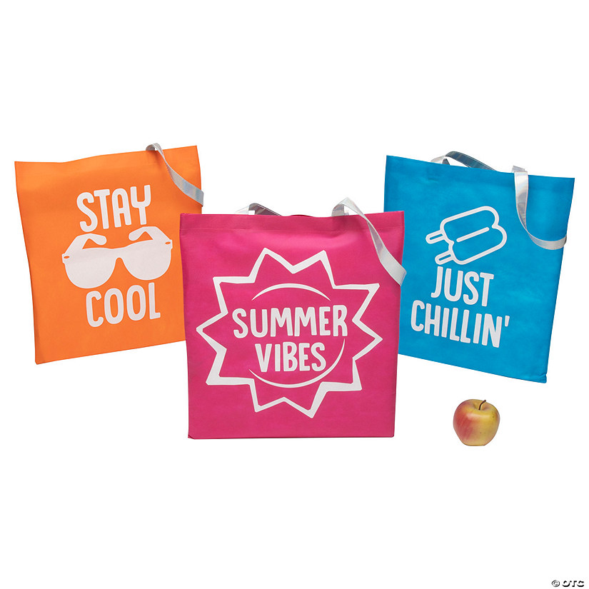 Large Summer Sayings Tote Bags Audio Thumbnail