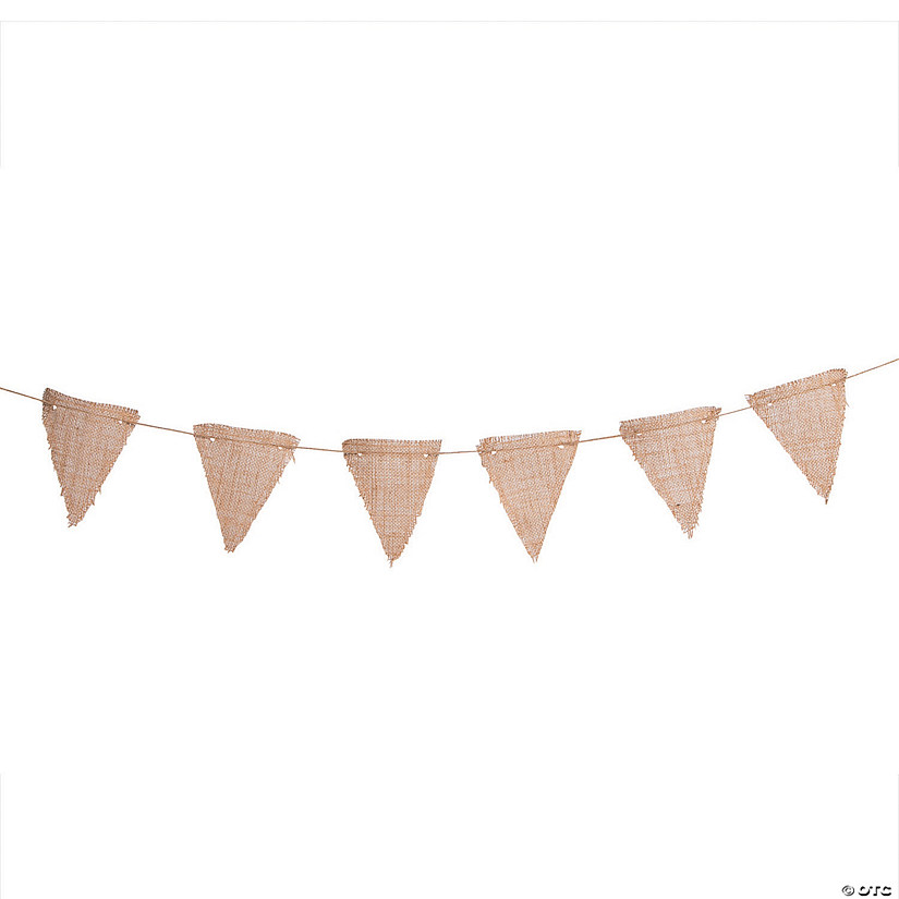 Large Triangle Pennant Burlap Garland