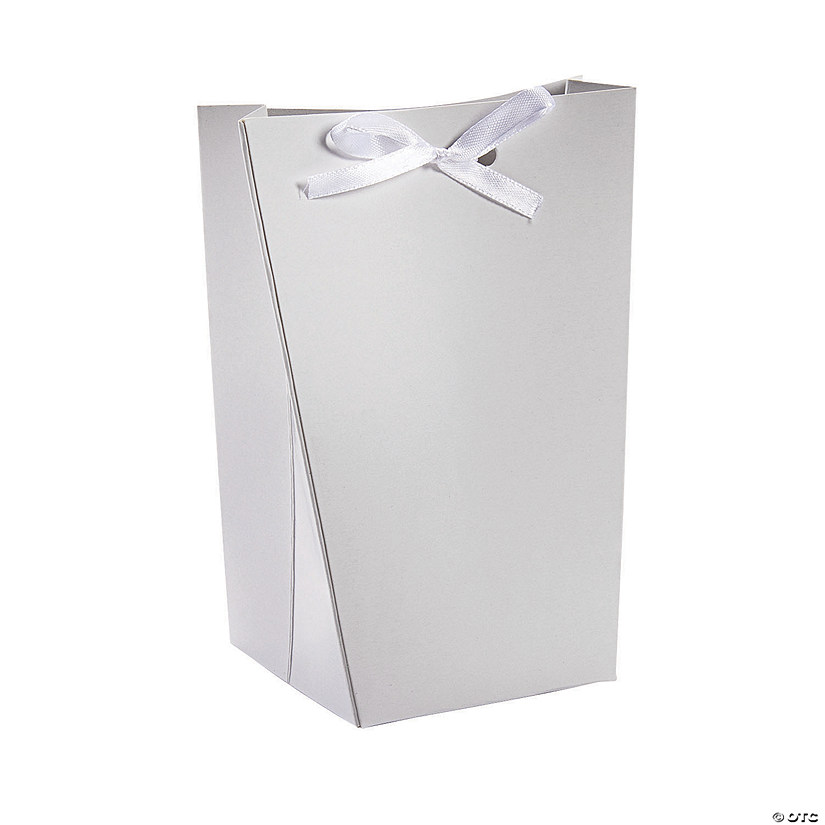 Large White Favor Boxes with Ribbon