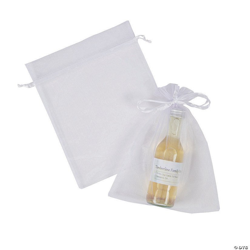 Large White Organza Drawstring Bags  Audio Thumbnail
