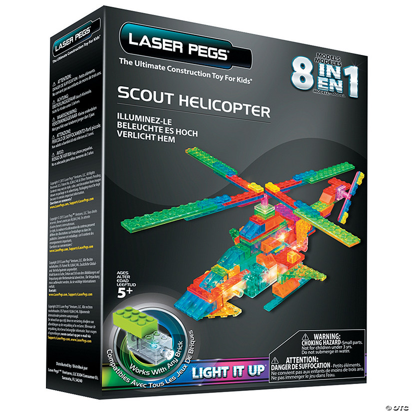 Laser Pegs 8-in-1 Scout Helicopter