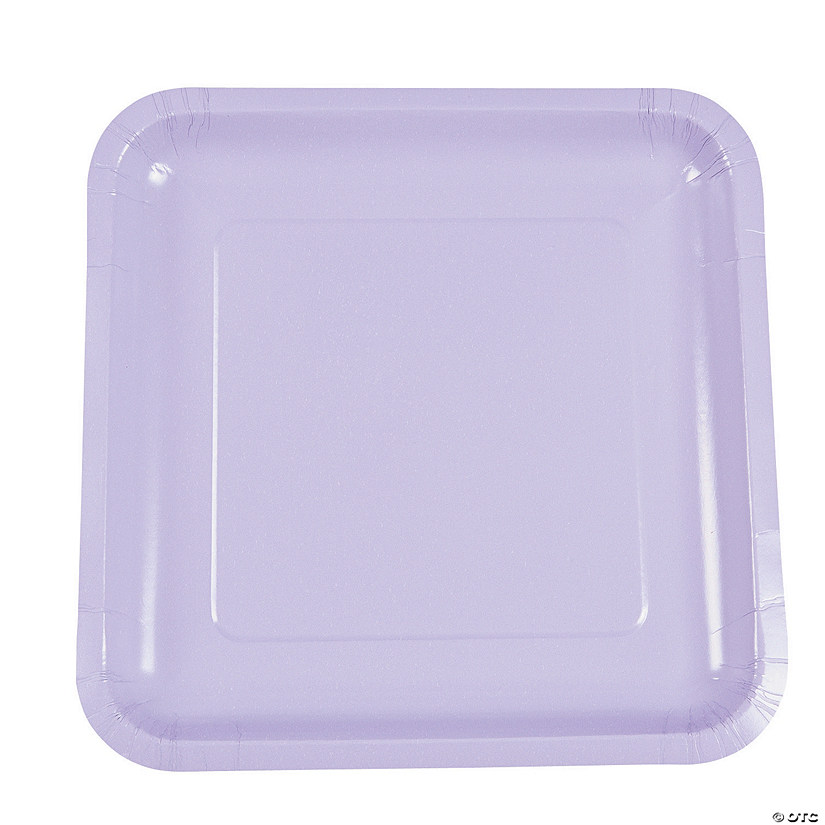 Lavender Square Paper Dinner Plates - 18 Ct. Audio Thumbnail