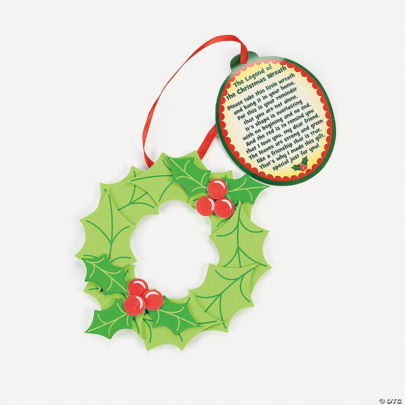 "Legend Of The Christmas Tree Poem: ""Legend Of The Christmas Wreath"" Ornament With Poem Craft"