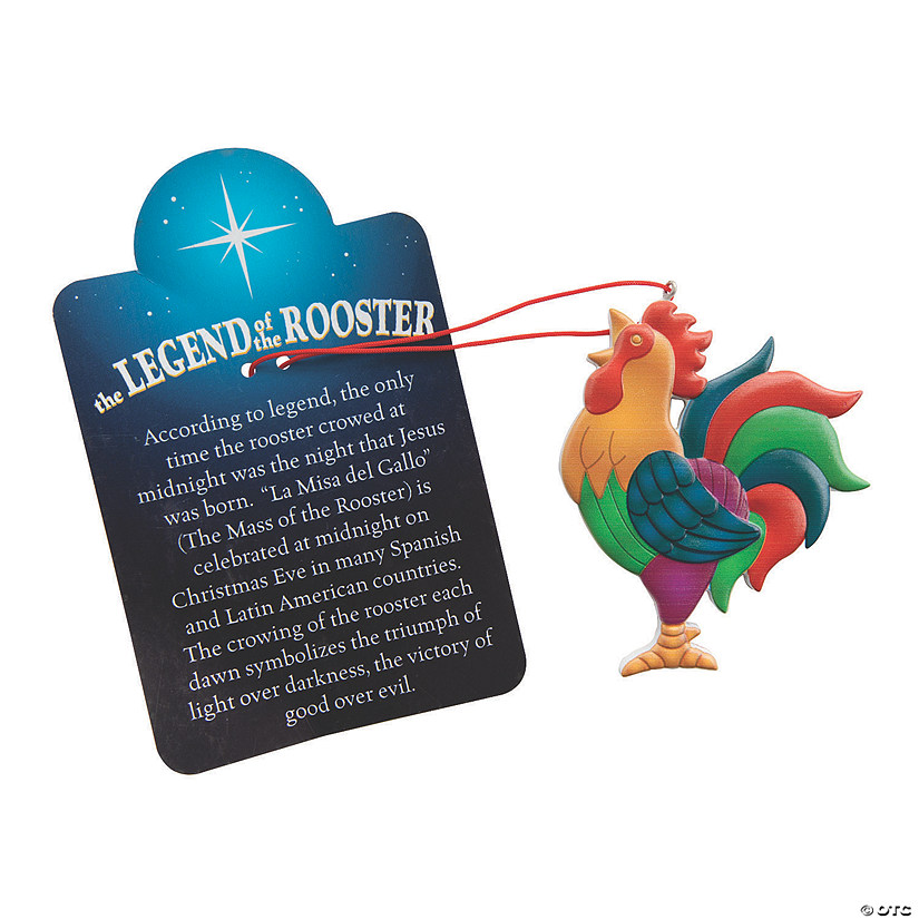Legend of the Rooster Ornaments with Card Image Thumbnail