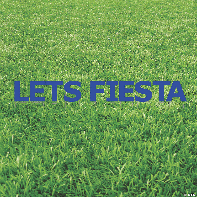 Let's Fiesta Blue Yard Sign Image Thumbnail