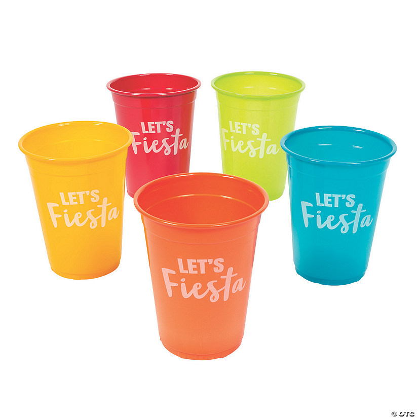 Let's Fiesta Plastic Cups - 50 Ct. Image Thumbnail