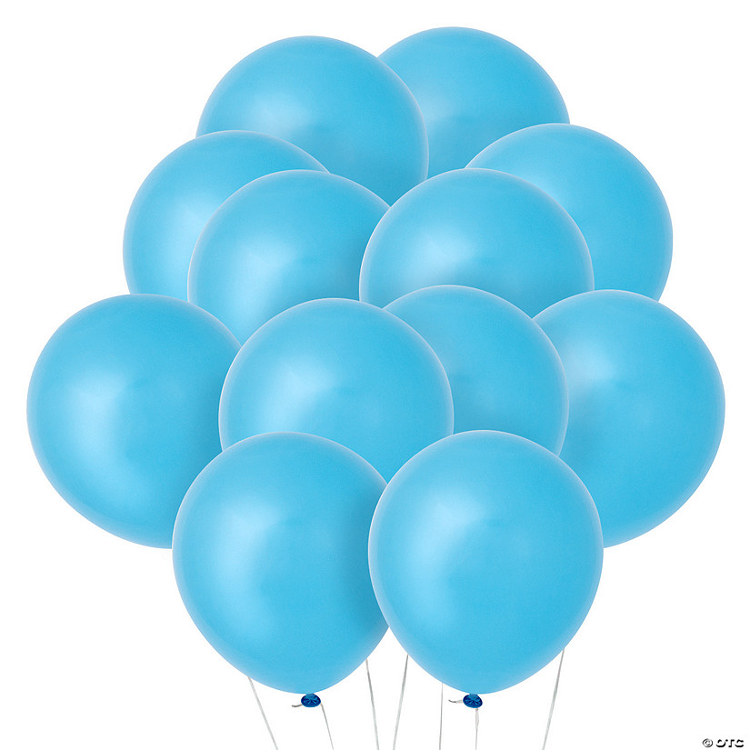 "Light Blue 9"" Latex Balloons Audio Thumbnail"