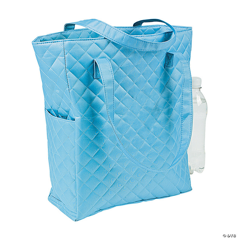 Light Blue Quilted Tote Audio Thumbnail