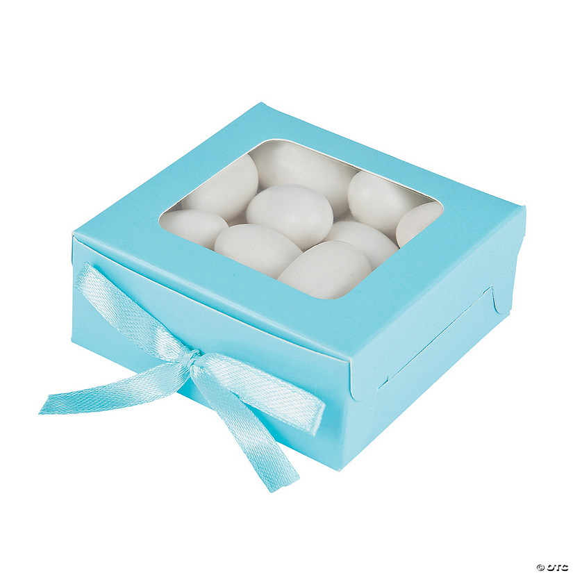 Light Blue Shadow Favor Boxes