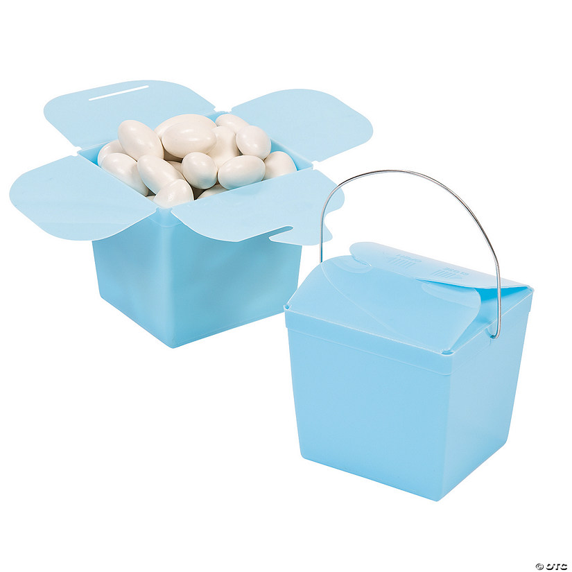 Light Blue Take Out Boxes