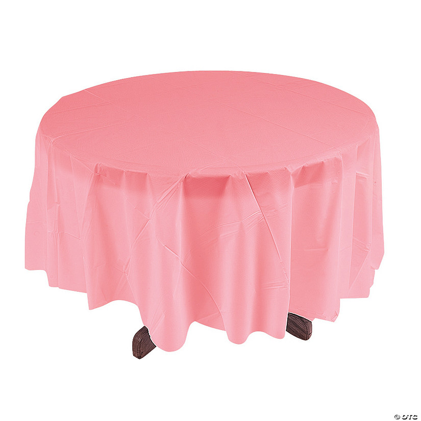 Light Pink Round Plastic Tablecloth Audio Thumbnail