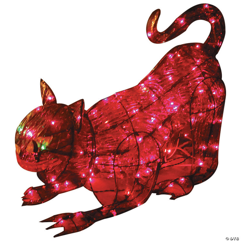 Light-Up Black Cat Halloween Décor