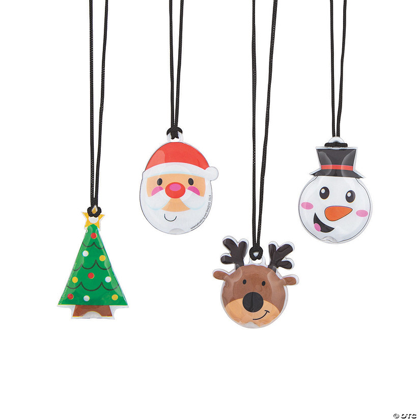 Light-Up Christmas Character Necklaces Image Thumbnail